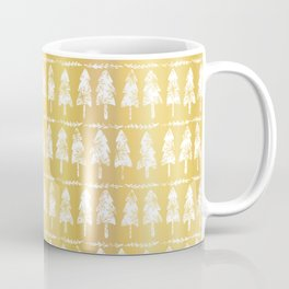 Luxury Gold Foil Festive Xmas Fir Tree Candle Pattern Coffee Mug