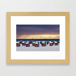 A STORM IS COMING - BALTIC SEA Framed Art Print