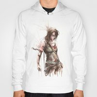 lara croft Hoodies featuring Lara by Alonzo Canto