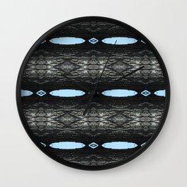 Oak Tree Blue Portal Nature Pattern by Debra Cortese Designs Wall Clock