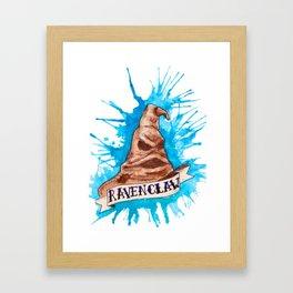 House Splatter - Ravenclaw Framed Art Print