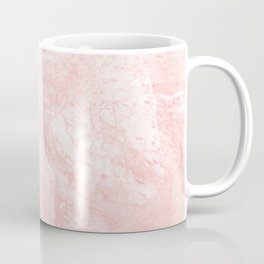 Blush pink white elegant modern marble Coffee Mug