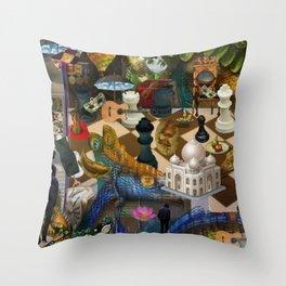 The Battlefield Throw Pillow