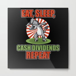 Dab Dabbing Gold Donkey Dividends From Stock Loves Metal Print
