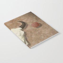 Bison Skull with Rose Rocks Notebook