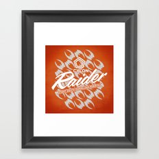 RAIDER Framed Art Print
