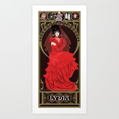 Lydia Nouveau - Beetlejuice Art Print