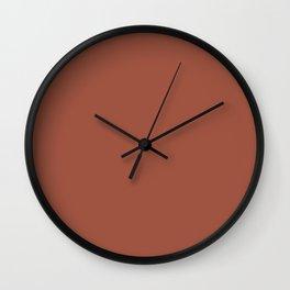 Kalahari Sunset #9F5441 Wall Clock
