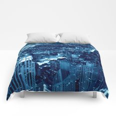 Chicago Nights Blue Comforters