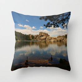 What A Beautiful Day At Sylvian Lake Throw Pillow