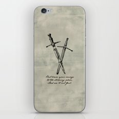 Shakespeare - Macbeth - Courage to the Sticking Place iPhone & iPod Skin