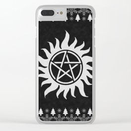Supernatural Holiday Sweater Clear iPhone Case