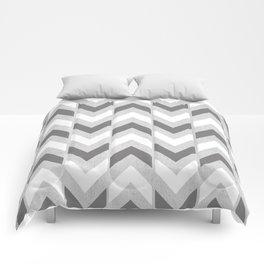 Grey & White Herringbone Chevron Comforters