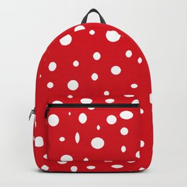 christmas pattern with red and white dots design Backpack