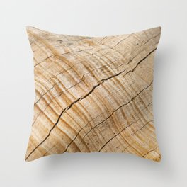 Weathered Wood Grain Throw Pillow