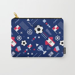 Love Football Background Carry-All Pouch