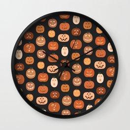 jack o' lanterns. Wall Clock