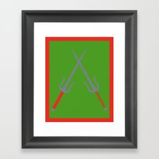 Cowabunga (Raphael Version) Framed Art Print