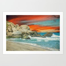 HAPPY SEASCAPE Art Print