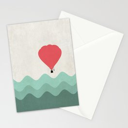 The Hot Air Balloon {The Boring Afternoon Design Series} Stationery Cards
