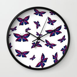 Fly With Pride: Bisexual Flag Butterfly Wall Clock