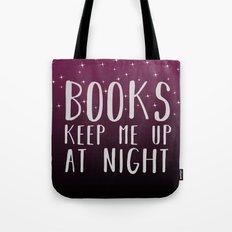 Books Keep Me Up At Night Purple - Stars Tote Bag