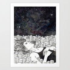 The City Never Sleeps Art Print