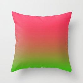 Fuchsia and Lime Gradient Throw Pillow