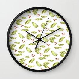 picnic pattern honeysuckle Wall Clock