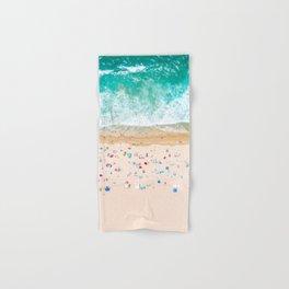 Drone shot of Manhattan beach Hand & Bath Towel