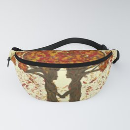Digital painting of the season of Autumn Fanny Pack