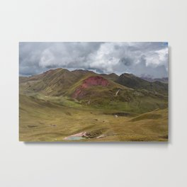 In the Sacred Valley around Ollantaytambo Metal Print