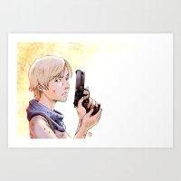 Resident Evil - Sherry Tribute Art Print