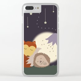 Goodnight Friends Clear iPhone Case