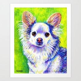 Cute Colorful Chihuahua Art Print