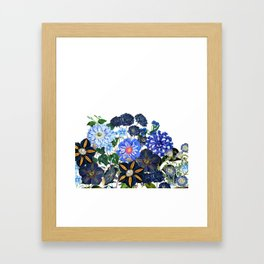Vintage & Shabby Chic - Blue Flower Summer Meadow Framed Art Print
