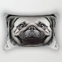 Puggly Pawstrong Astro Dog Rectangular Pillow