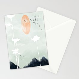 all the way back to the nest Stationery Cards