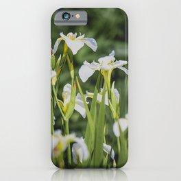 White Iris iPhone Case