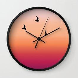 Summer birds Wall Clock