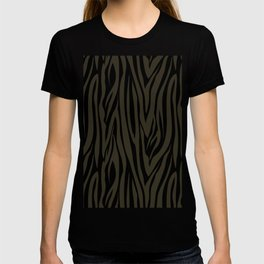 Sophisticated Black and Grey Zebra Print Pattern T-shirt