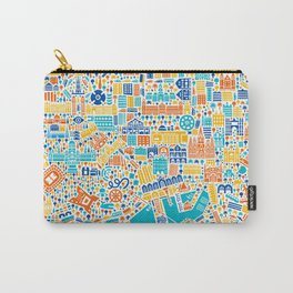 Vianina Barcelona City Map Poster Carry-All Pouch