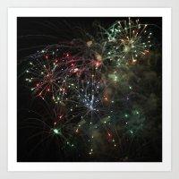 Firework 1172 Art Print