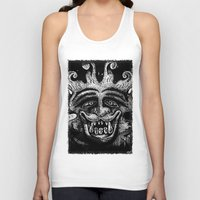 mythology Tank Tops featuring Shadow Beast Mythology by Anya Campbell by BohemianBound