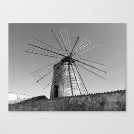 Taranto, Sicily   Windmill of the saltworks Canvas Print