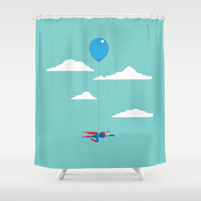 The Real Superman Shower Curtain