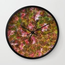 Abstract Flowers and Leaves Wall Clock