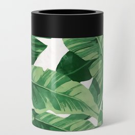 Tropical banana leaves IV Can Cooler