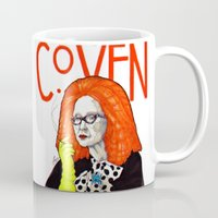 coven Mugs featuring WE PROTECTED THE COVEN by Robert Red ART
