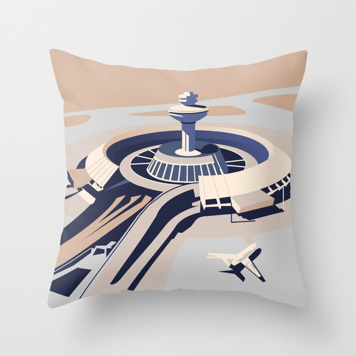 Soviet Modernism: Zvartnots airport, Armenia Throw Pillow